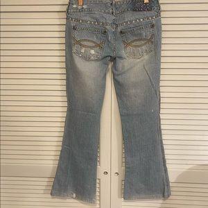 Abercrombie Kids Girls 16 Bejeweled Denim Jeans.
